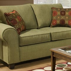 Accent Sofa Sets Beds Ikea Cyprus Olive Fabric Modern Casual And Loveseat Set W Throw Pillows