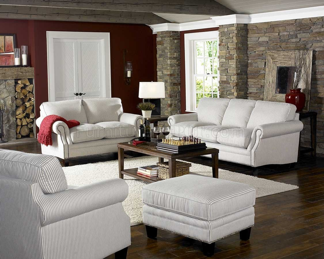cottage style chairs rustic dining tables and white blue striped fabric sofa loveseat set