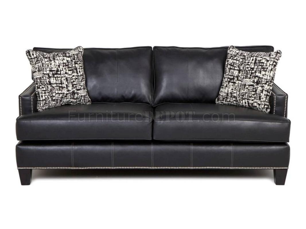 chelsea leather sofa sleeper best quality 8700 kimberly black bonded home