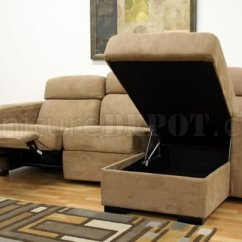 Home Depot Lounge Chairs Big Joe Roma Floor Chair Tan Microfiber Modern Reclining Sectional Sofa W/storage Chaise