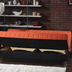 Orange And Black Sofa Bed Ashley Furniture Darcy Sage Rio Fabric Convertible W Accents