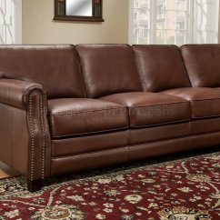 Traditional Leather Sectional Sofas Cheap Camper Cocoa Brown Top Grain Italian