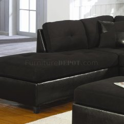 Buchannan Faux Leather Sectional Sofa With Reversible Chaise Chestnut Jasper King Furniture Black Microfiber