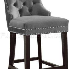 Office Depot Chair Best Baby High Nikki Stool 741 Set Of 2 In Grey Velvet Fabric By Meridian