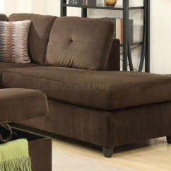 Acme Sectional Sofa Chocolate Com Bed Reviews Belville 52700 In Velvet By