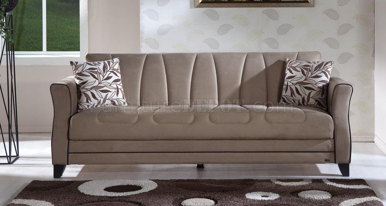 polaris contemporary leather sofa set small 2 piece sectional rainbow dark beige fabric living room sleeper w/storage