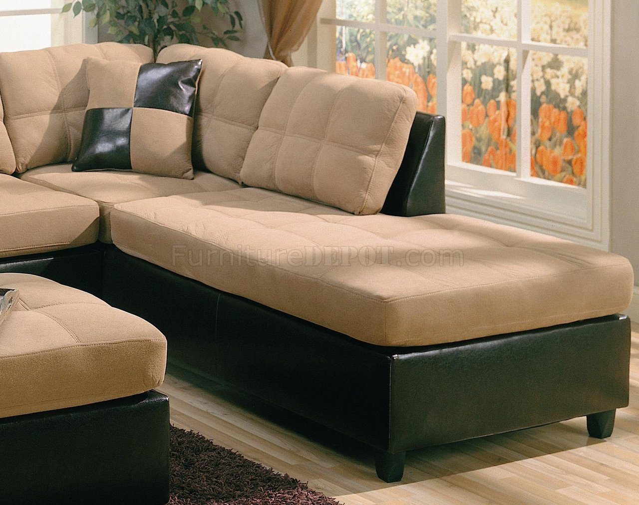 dark brown microfiber sofa beds londonderry two tone tan and faux leather
