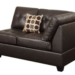 Espresso Bonded Leather Reclining Sofa Loveseat Set Grey Cord Corner Dfs F7242 Sectional By Poundex In