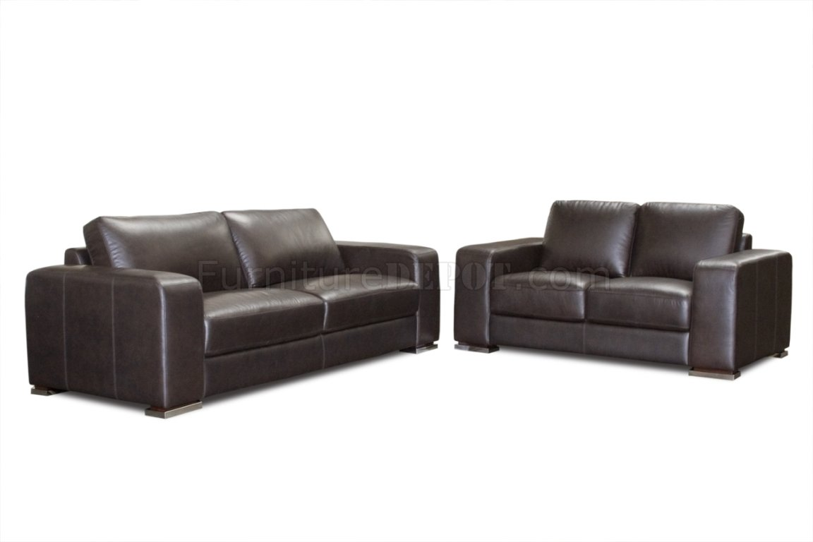 deep leather sectional sofa lime green uk mocca top grain hudson and loveseat set