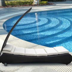 Tosh Furniture Dark Brown Sofa Set Leather Cream Wicker Modern Outdoor Chaise Lounge W/canopy