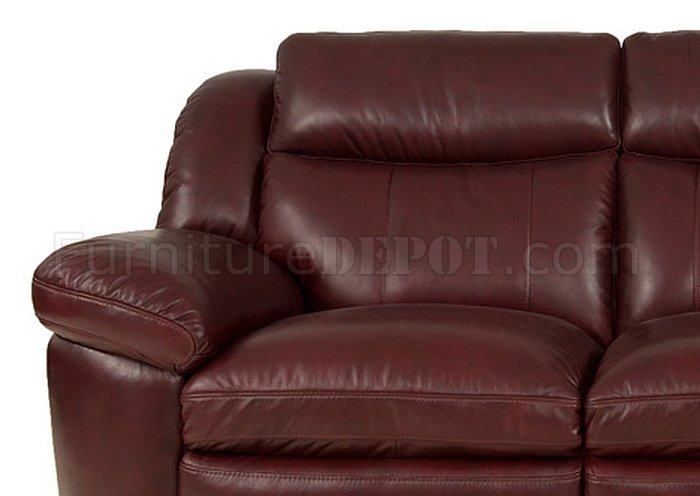 burgundy leather sofa and loveseat circle sectional bed 8550 sonora in set by italia
