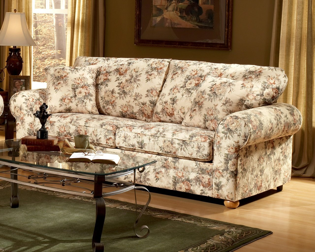 fabric sofa pictures sets for indian homes floral pattern traditional and loveseat set