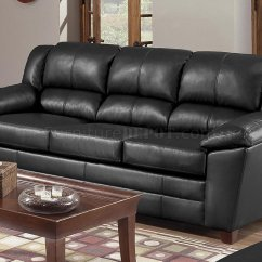 Baseball Leather Sofa Wall Bed With India Black Bonded Living Room W Stitch Seams