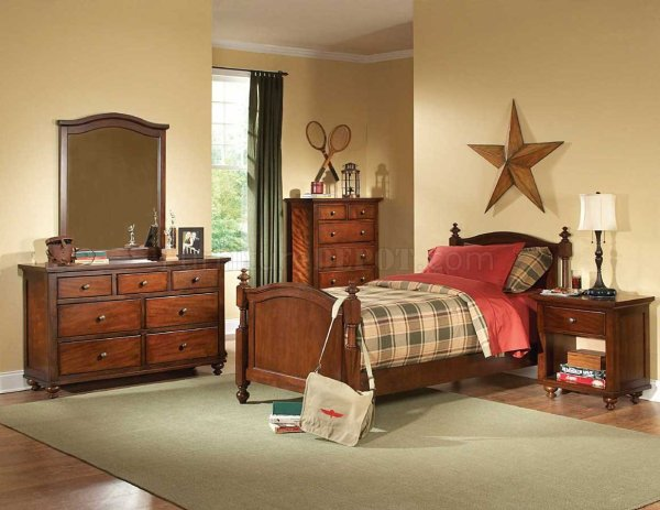 Aris B1422 Kids Bedroom In Brown Cherry Homelegance Withoptions