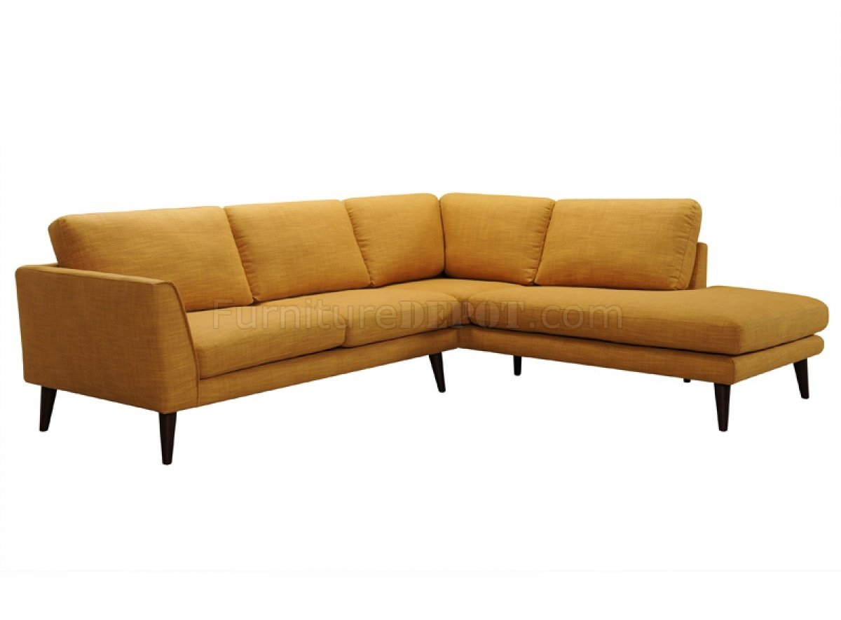 gold sectional sofa bianca drew 31278 in color fabric by vig