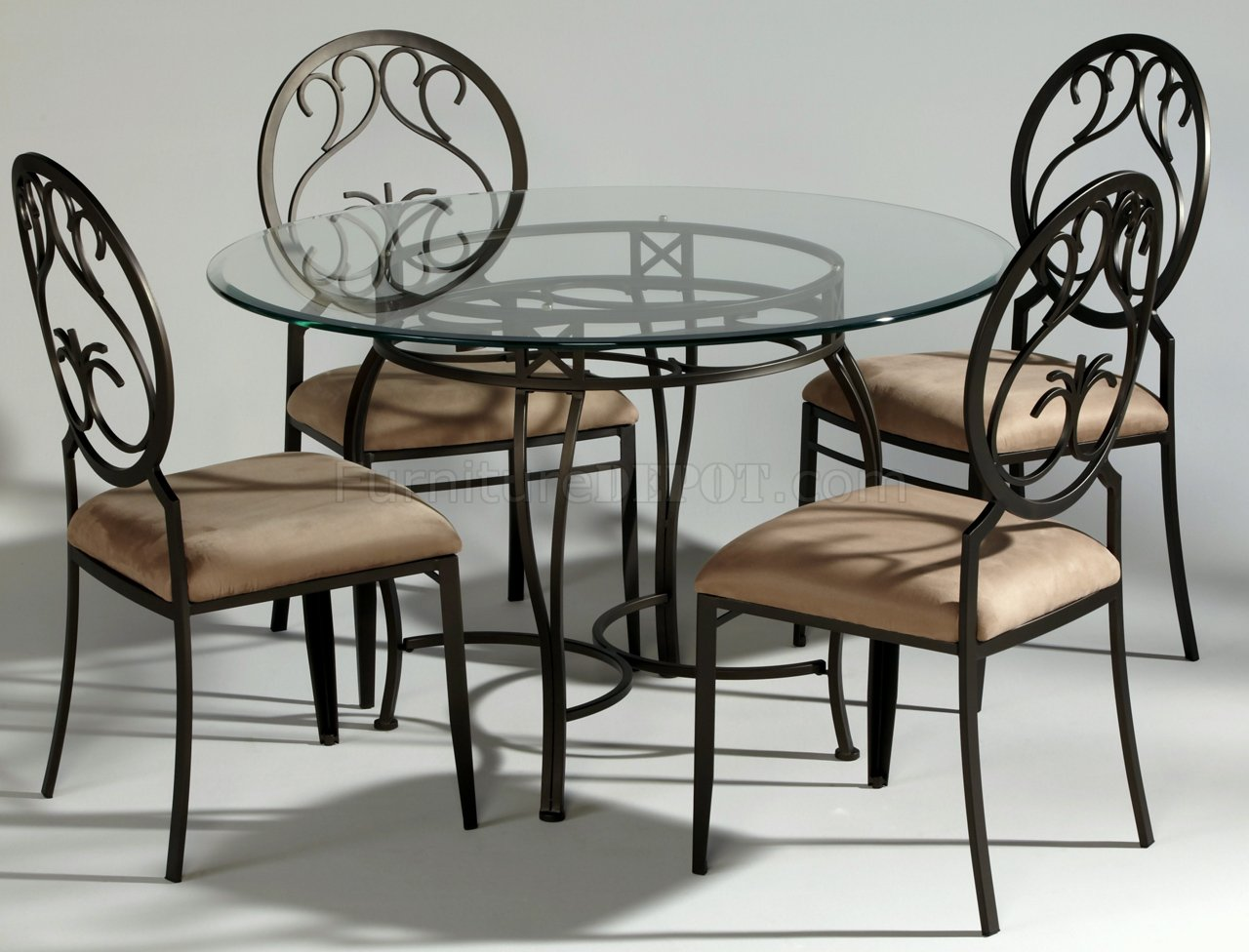 steel chair dining table king throne chairs for rent dark champagne metal modern w optional