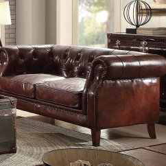 Acme Sectional Sofa Chocolate Sofas Louisville Ky Aberdeen 53625 In Brown Top Grain Leather By W