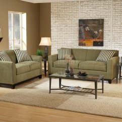 Burgundy Leather Sofa And Loveseat Brushed Chrome Table Sage Fabric Casual Modern Living Room & Set