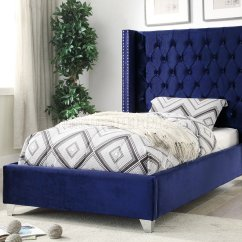 Convertible Sofa Bed Sectional Minotti Allen Preis Aiden In Royal Navy Velvet Fabric By Meridian W/options