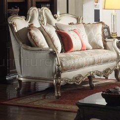 Aria Fabric Modern Sectional Sofa Set Tufted White Leather Classic In Off W/optional Items