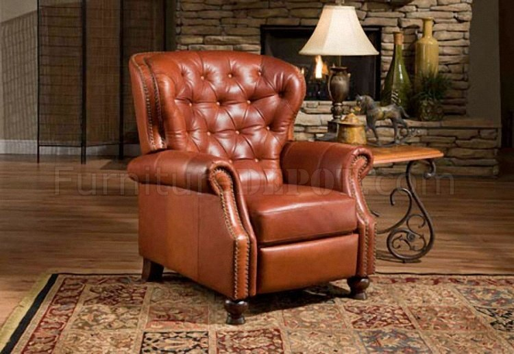 nailhead recliner sofa cover cloth design sienna, black or brown top grain leather traditional