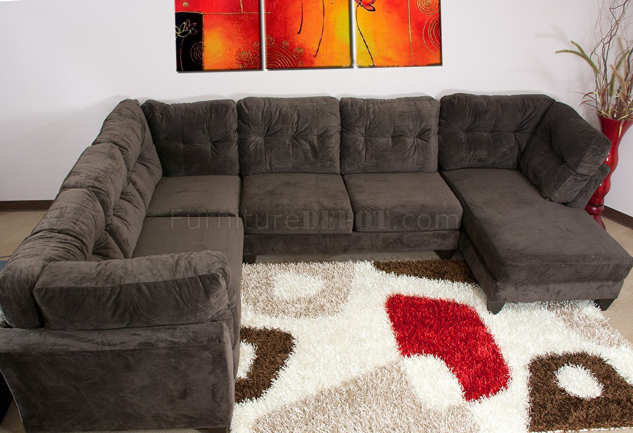 Sofa Leather Chaise And