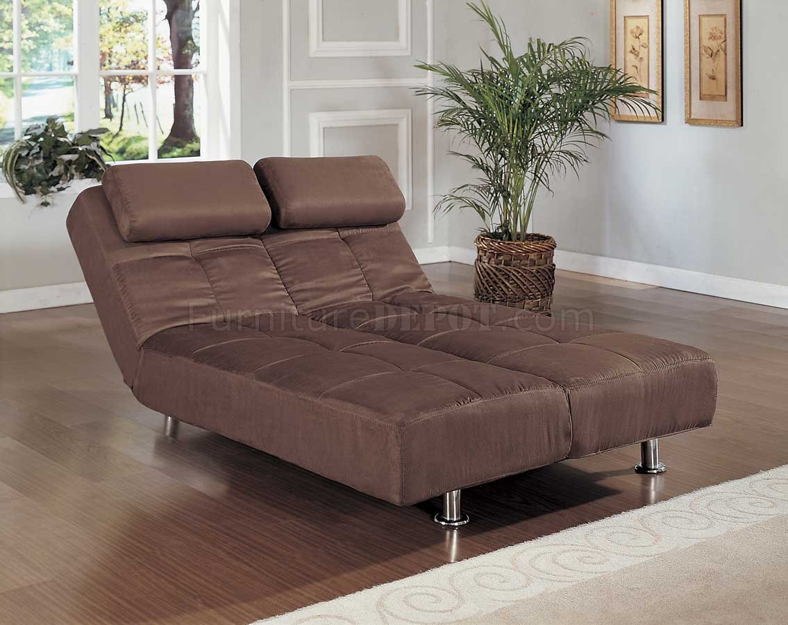 brown microfiber sofa bed white leather bad idea contemporary convertible lounger