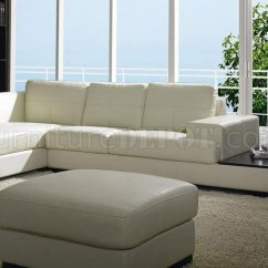 White Leather Sectional Sofa With Ottoman Deals On Sofas Off Modern Low Profile W