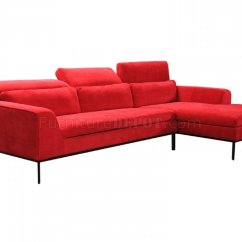 Clayton Sofa Different Types Of Leather Sofas Sectional 31240 In Red Fabric By Vig