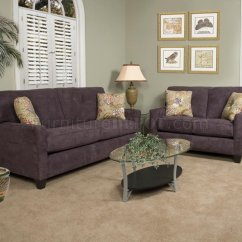 Eggplant Sofa With Removable Covers Fabric Modern Loveseat Set W Options