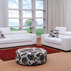 Living Room Sets In Miami Fl Carpet Singapore Fabric Modern Set White 3pc W Ottoman