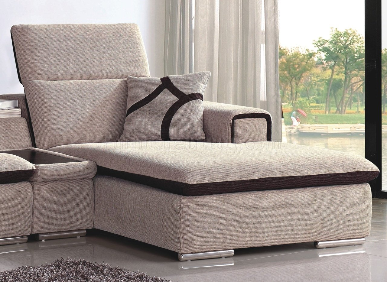 aria fabric modern sectional sofa set striped sets beige and chocolate