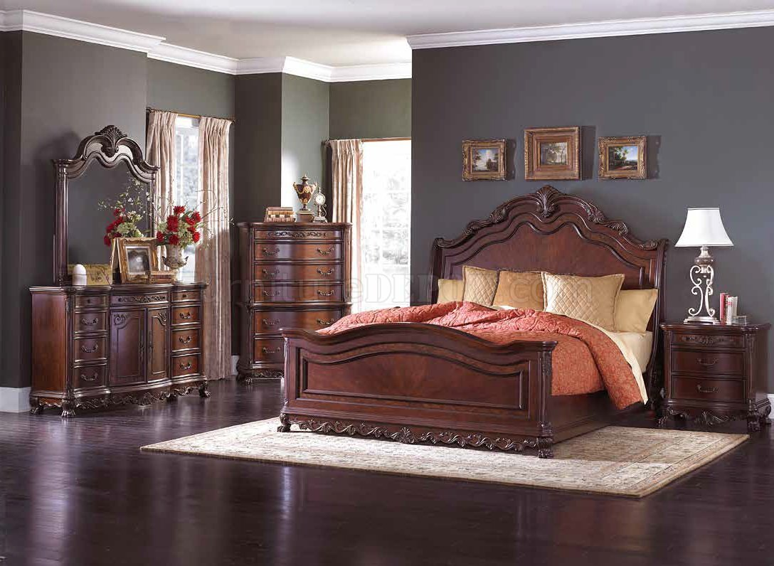 deryn park bedroom cherry by homelegance