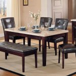 Faux Marble Top Modern Dining Table W Optional Items