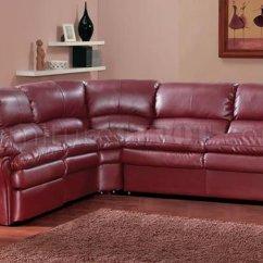 Leather Sleeper Sofa With Nailheads Brown Twin Burgundy Sofas Maroon Wayfair - Thesofa