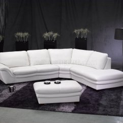 White Leather Sectional Sofa With Recliner Cleaner Products Contemporary W Ottoman