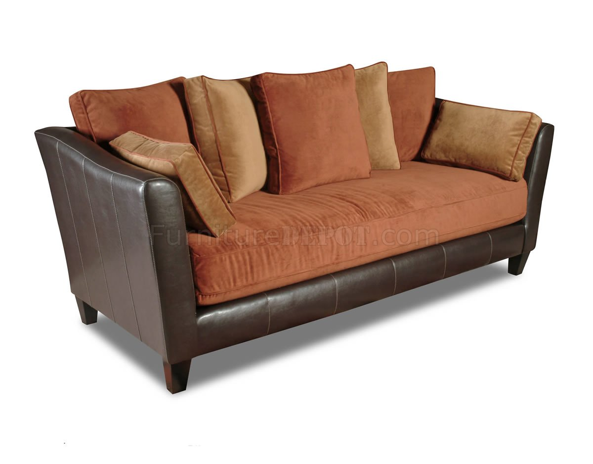 alicia two tone modern sofa and loveseat set reupholstery near me tri fabric bicast w options