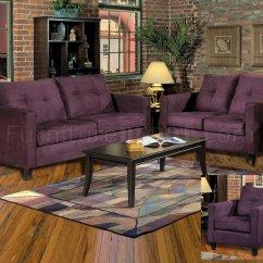 Eggplant Sofa Lounge Ideas Fabric Modern Loveseat Set W Options