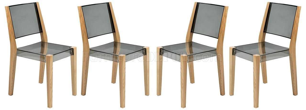 set of 4 dining chairs john vogel chair west elm barker bc19tbl in black by leisuremod