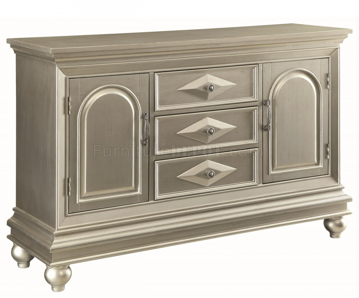 950633 Accent Cabinet in Silver Tone by Coaster