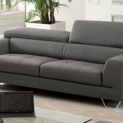 Dark Gray Sofa Folding Ottoman Single Bed Review S879 In Leather By Pantek W Options