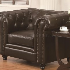 Brooklyn Bonded Leather Lounger Chair And Ottoman Oversize Swivel Roy Sofa Brown Match 504551 By Coaster W