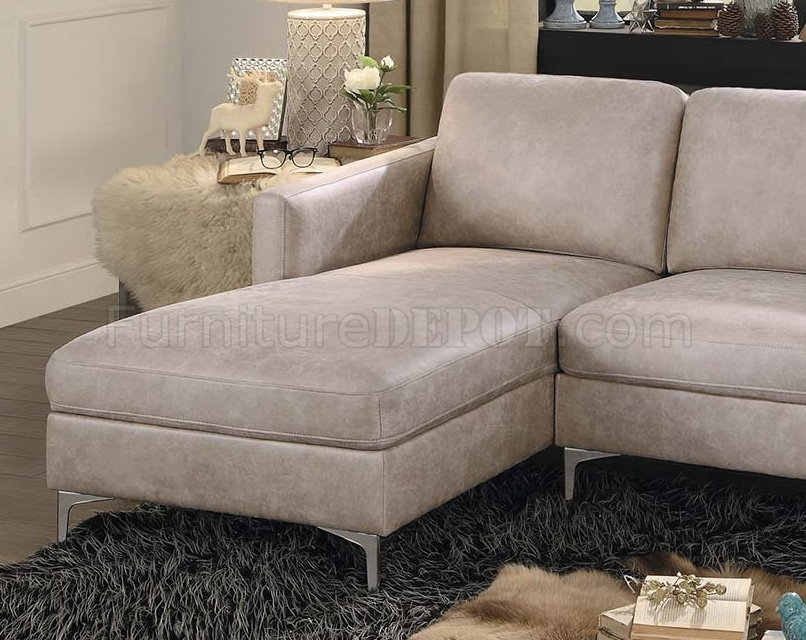 reversible sectional sofas with chaise and sectionals com breaux sofa 8235ss in sesame fabric by homelegance