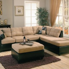 Dark Brown Microfiber Sofa How Much Do American Leather Sofas Cost Two Tone Tan And Faux