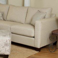 Cream Soft Fabric Sofa Ashley Recliner Reversible Modern Sectional W Optional