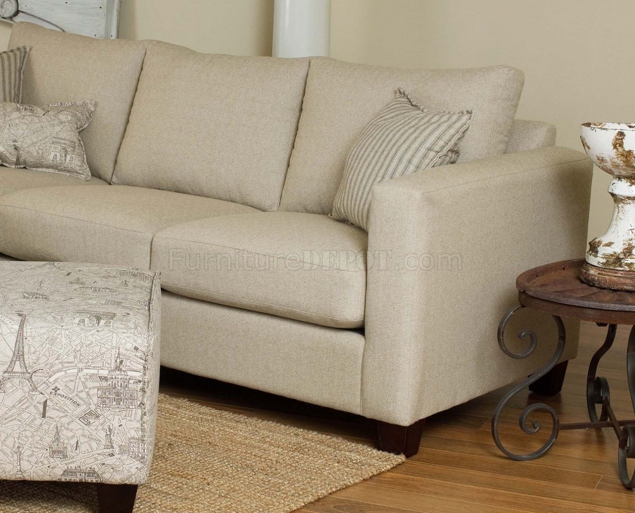 cream sectional sofa fabric the cloud reviews reversible modern w optional