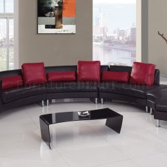 Black And Red Leather Sofa Modern White Sectional 919 In By Global Ultra Bonded