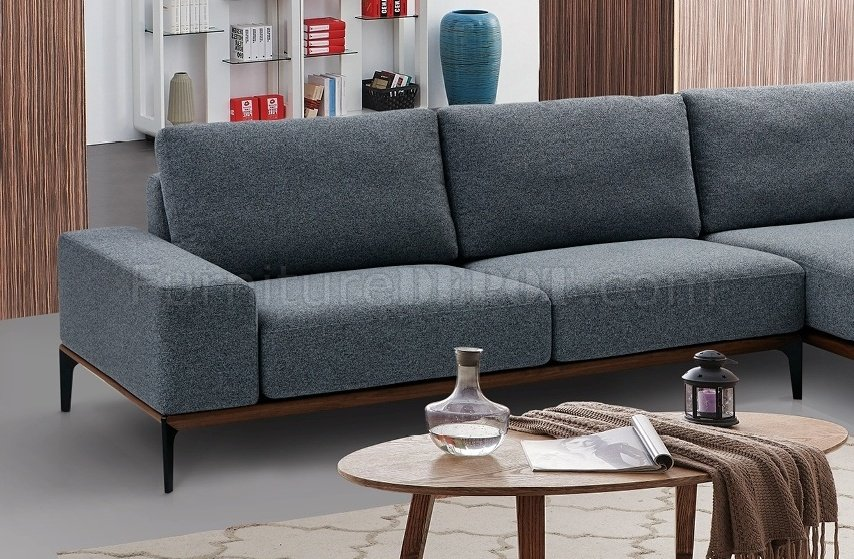 3 sided sectional sofa fresno vs sacramento sofascore 709 in fabric by esf