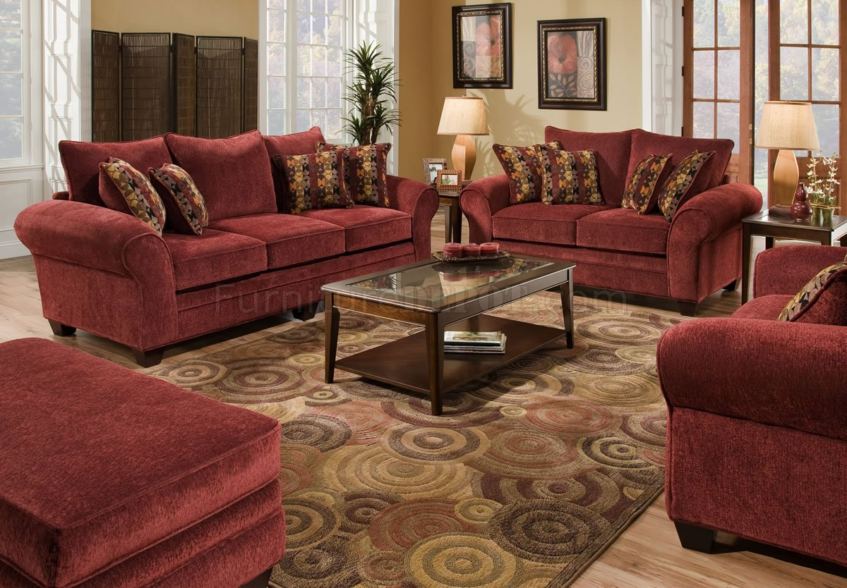 burgundy leather sofa and loveseat reupholster bed fabric set w graphic throw pillows