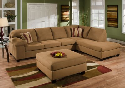 right arm facing sofa left chaise jackson west elm reviews tan cigar fabric modern sectional set w/optional ottoman